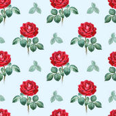 Watercolor illustrations of a roses. Seamless pattern