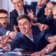 Постер, плакат: Business people office Team people are unhappy with their leader