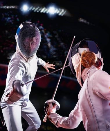 Fencing sport for women epee fencer.