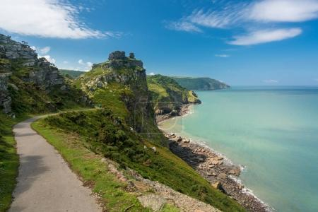 The South West Coast Path near Lynmouth