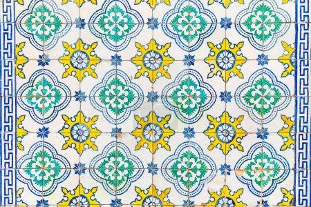 Azulejos tiles on a wall in Lisbon