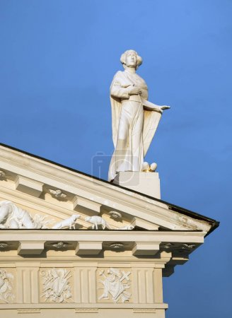 Statue on the roof of the Vilnius cathedral