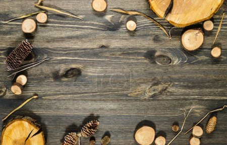 Nature wooden background