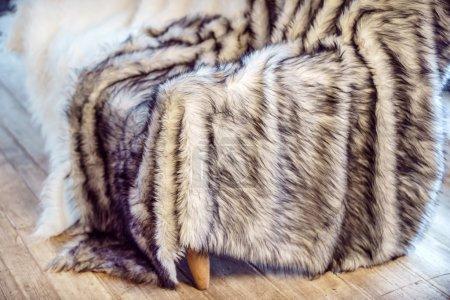 Cozy fur rug