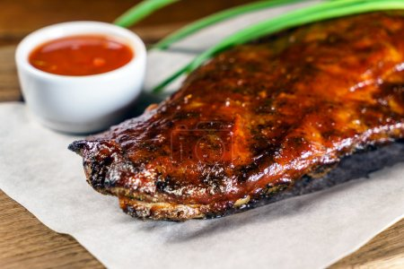 Hot grilled ribs