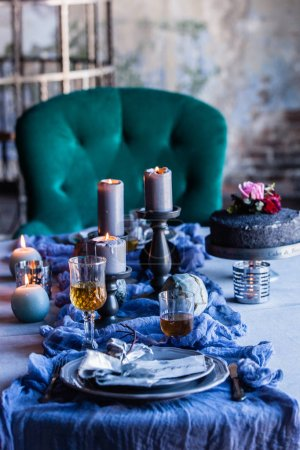 Photo for Elegant and simple table setting - Royalty Free Image