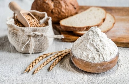 Wheat, bread and flour