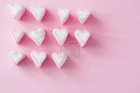 Heart shaped marshmallows