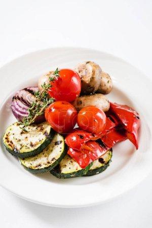 pile of grilled vegetables