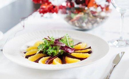 Beet and orange napoleon salad...