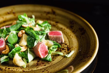 delicious salad with tuna