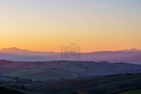 Colorful Tuscany landscape