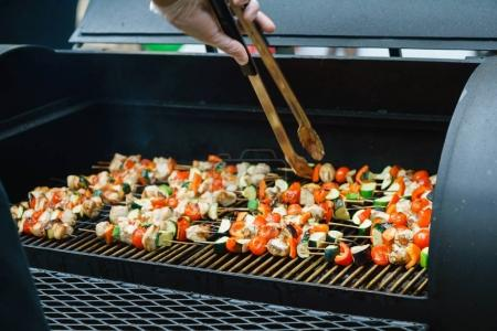 Appetizing grilled kebabs