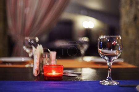 Photo for Table set for meal in restaurant - Royalty Free Image