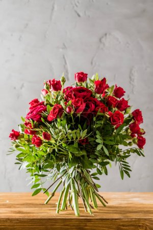 Photo for Red roses bouquet, close up - Royalty Free Image