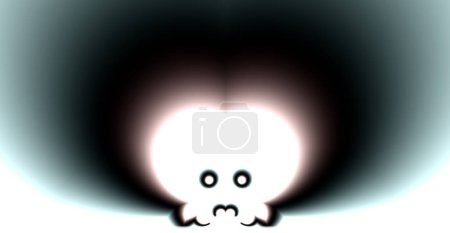 Photo pour Crâne abstrait sur le blanc - image libre de droit