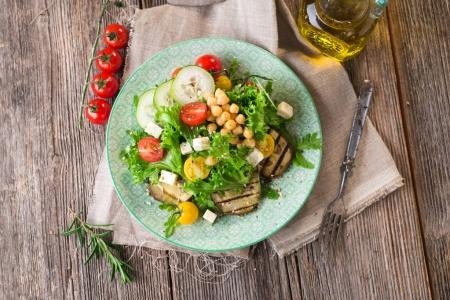 Fresh healthy salad with chickpea