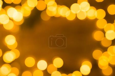 bright blurred christmas lights, close-up