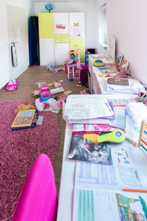 Photo for Messy girl room interior - Royalty Free Image