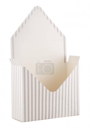 open envelope on white background. gift concept.
