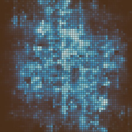 Abstract square pixel mosaic background. Close up...