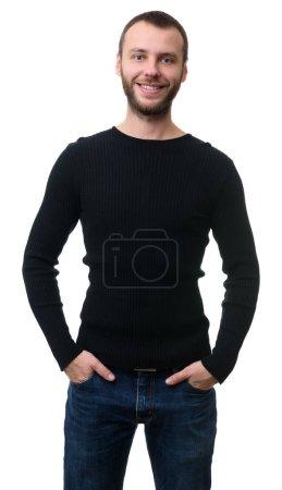 Handsome smiling bearded man