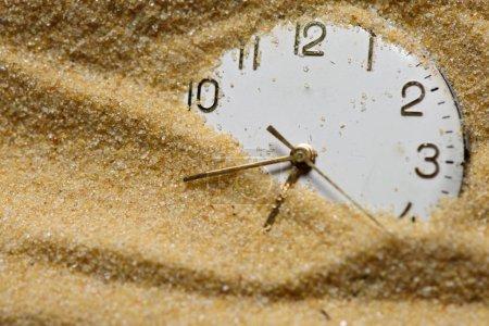 Vieux cadran dans le sable