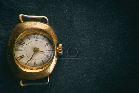 retro golden watch
