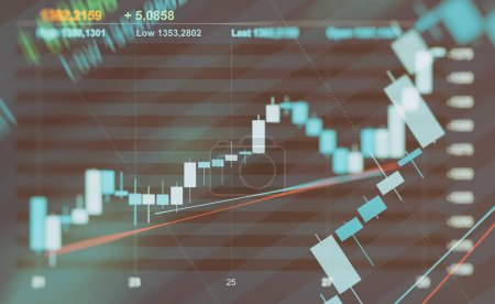 abstract financial graph background