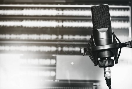 Photo for Professional microphone in a recording studio close up - Royalty Free Image