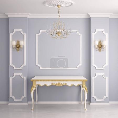 Photo pour Intérieur de style classique avec colonnes - image libre de droit