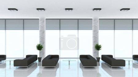 Photo pour Intérieur moderne du hall (rendu 3D ) - image libre de droit