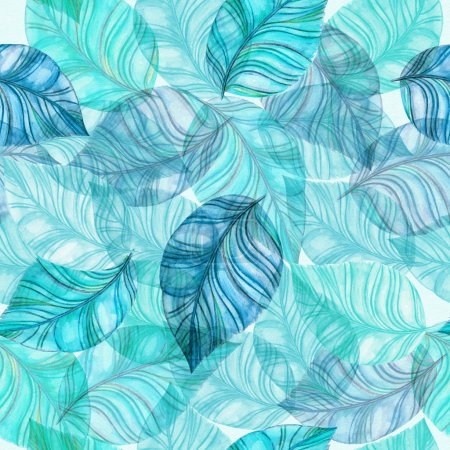 Photo for Fashion seamless floral watercolor painting pattern - Royalty Free Image