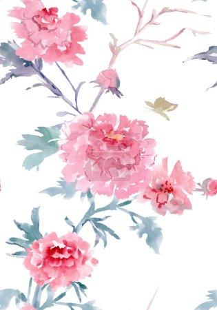 Photo pour Texture transparente de nature. peinture aquarelle - image libre de droit