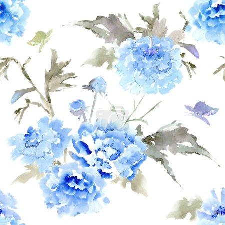 Photo pour Vintage texture transparente avec des fleurs abstraites pour votre conception. peinture aquarelle - image libre de droit