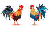 cute roosters for your design