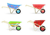 collection of wheelbarrow carts