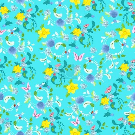 cute floral seamless texture