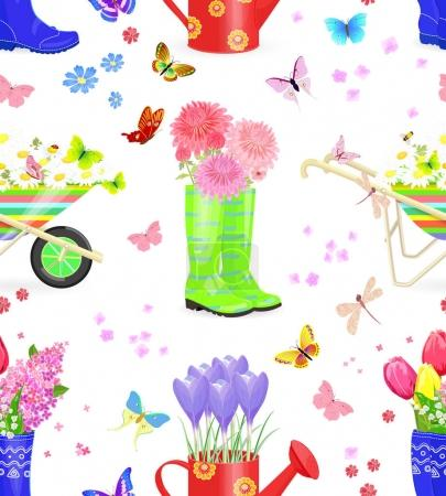 seamless texture with bouquets