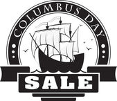 Columbus day sale decorative label