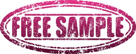Illustration for Free sample grunge style shabby rubber stamp - Royalty Free Image