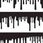 Black paint drips. Vector illustration for your de...