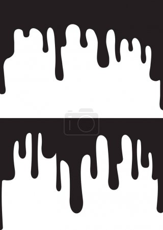 black paint drips