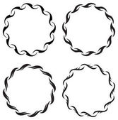 round floral  frames