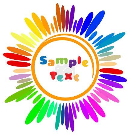 Illustration pour Coloré dessin animé Sun symbole avec place pour votre texte. Illustration vectorielle . - image libre de droit