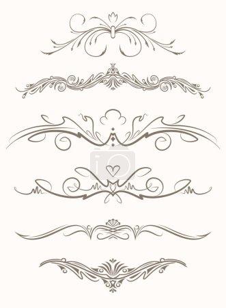 decorative vintage vector page elements