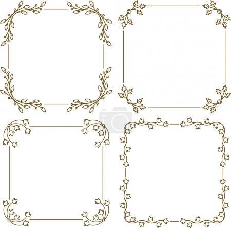 Set of four vintage frame