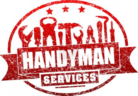 Handyman services red stamp