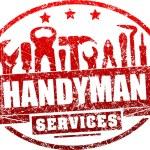 Постер, плакат: Handyman services red stamp