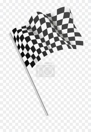 vector illustration design of Chequered flag flying.